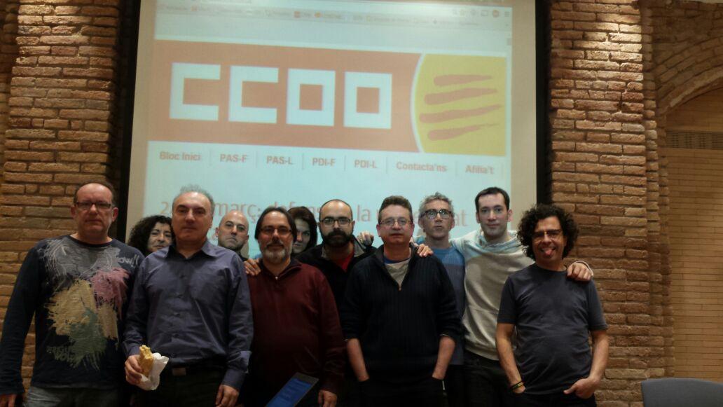 Tancada CCOO Universitats